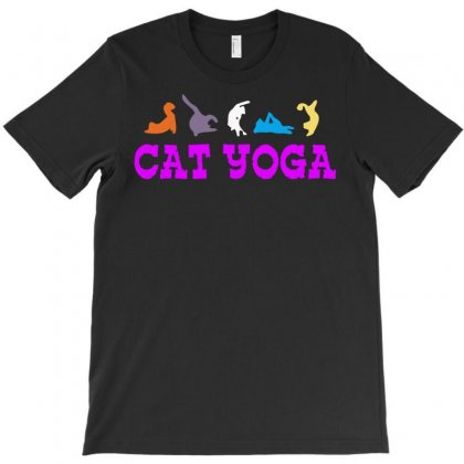 Cat Yoga T-shirt Designed By Setia15ginting