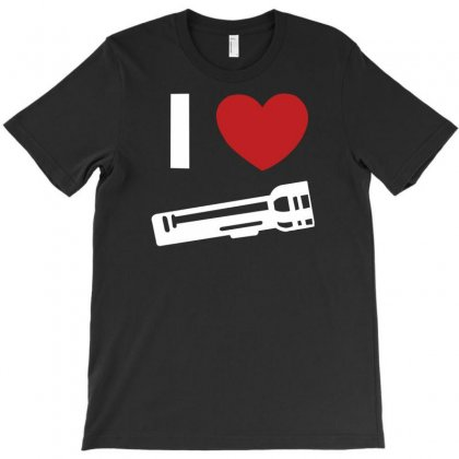 I Love Alan Wake Video Game Flashlight T-shirt Designed By Lub1s