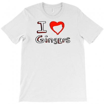 I Love Gingers T-shirt Designed By Lub1s