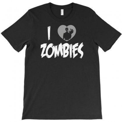 I Love Zombies T-shirt Designed By Lub1s