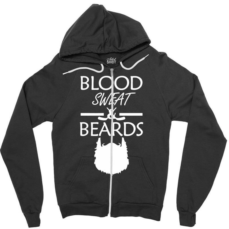wholesale dealer cf4d0 e57bb Beard Shirt Playoff Hockey Zipper Hoodie. By Artistshot