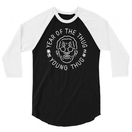 Year Of The Thug Young Thug 3/4 Sleeve Shirt Designed By Narayatees