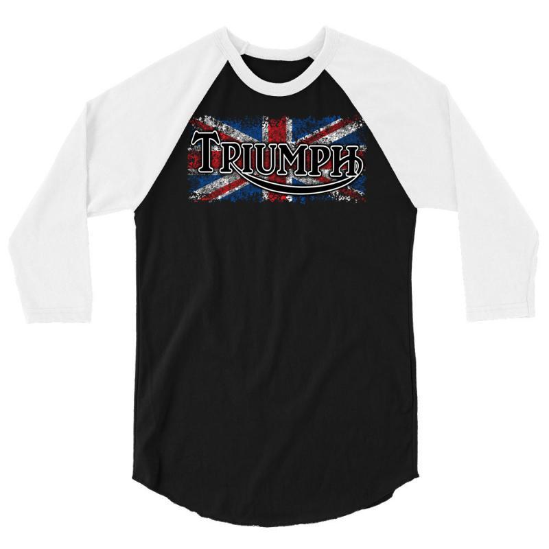 7efa0efd Custom Triumph 3/4 Sleeve Shirt By Secreet - Artistshot