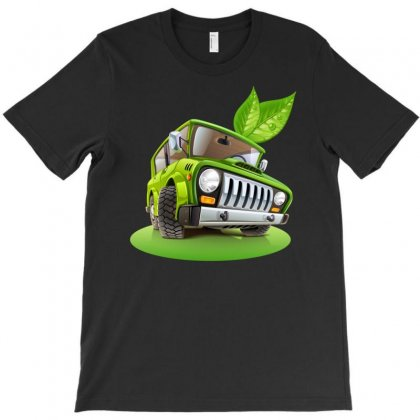 Travel Cars Green T-shirt Designed By Secreet