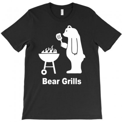 Bear Grilling Grills Funny T-shirt Designed By Yoseptees