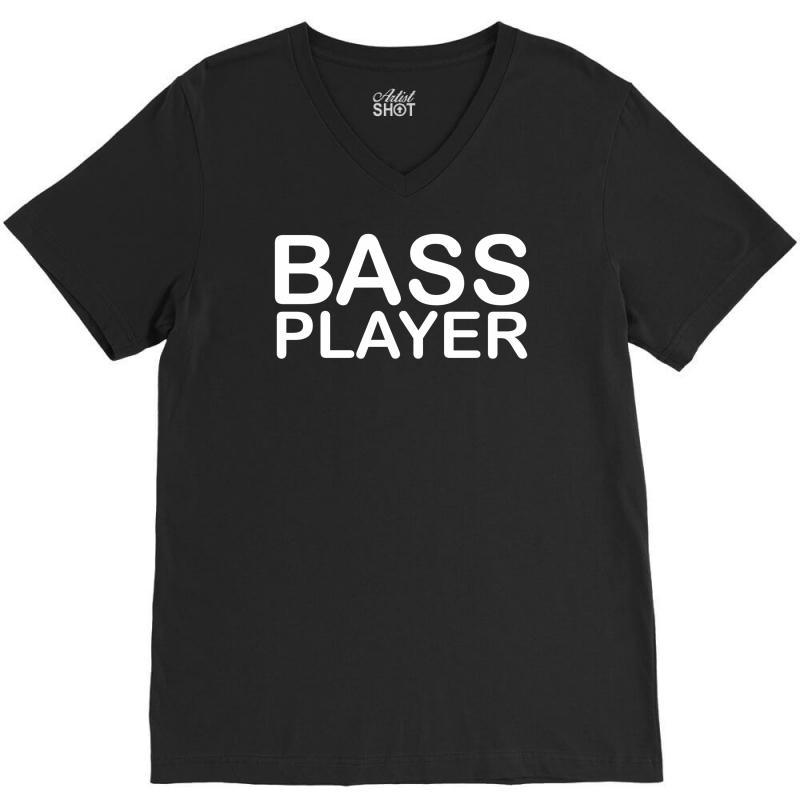 Bass Player V-neck Tee | Artistshot