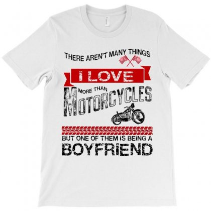 This Boyfriend Loves Motorcycles T-shirt Designed By Rardesign