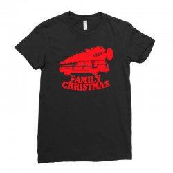 family christmas Ladies Fitted T-Shirt | Artistshot
