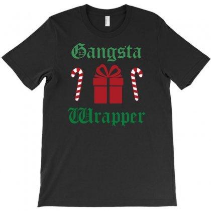 Gangsta Wrapper Christmas T-shirt Designed By Uncleodon
