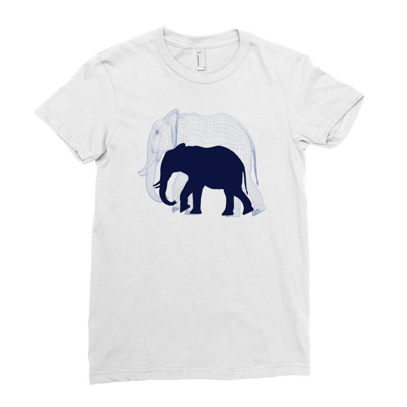 c23bddcfd32ab3 Custom Royal Elephant Ladies Fitted T-shirt By Ditreamx - Artistshot