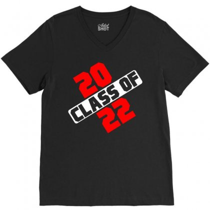 Class Of 2022 V-neck Tee Designed By Designbycommodus