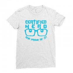 Certified Nerd Ladies Fitted T-Shirt   Artistshot