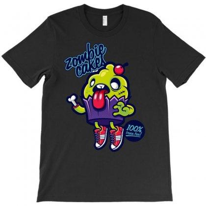 Zombie Cakes T-shirt Designed By Davidgahar