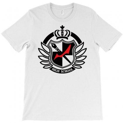 Danganronpa High School Logo T-shirt Designed By Davidgahar   Artistshot