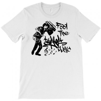Feel The Music T-shirt Designed By Mdk Art