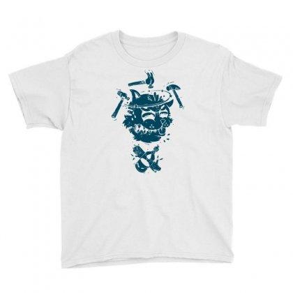 Dizzy Drunk Cat Youth Tee Designed By Mdk Art