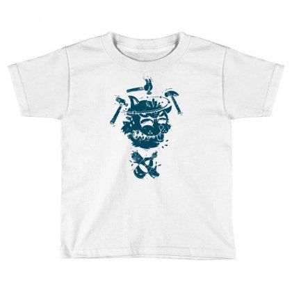 Dizzy Drunk Cat Toddler T-shirt Designed By Mdk Art