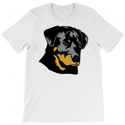 Head Rottweiler Dog T-shirt Designed By Davidgahar   Artistshot