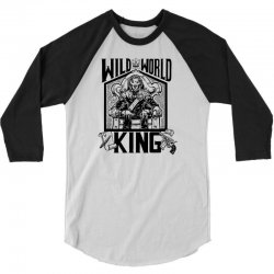 Wild World King 3/4 Sleeve Shirt | Artistshot