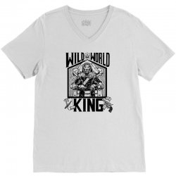 Wild World King V-Neck Tee | Artistshot
