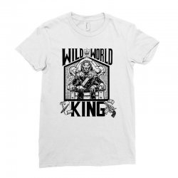 Wild World King Ladies Fitted T-Shirt | Artistshot