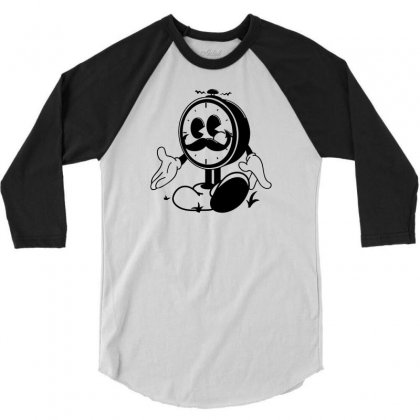 Ye Old Ticker 3/4 Sleeve Shirt Designed By Mdk Art