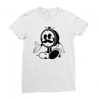 Ye Old Ticker Ladies Fitted T-shirt Designed By Mdk Art