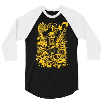 Arkaik Pirate 3/4 Sleeve Shirt Designed By Mdk Art