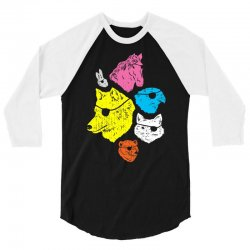 Animals with Eyepatches 3/4 Sleeve Shirt | Artistshot