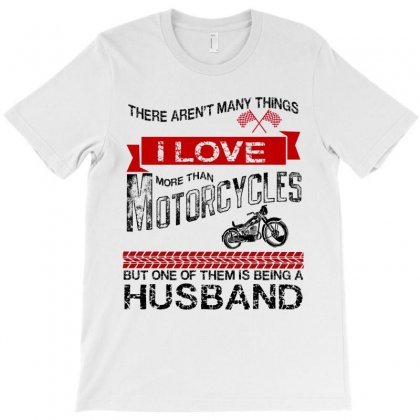 This Husband Loves Motorcycles T-shirt Designed By Rardesign