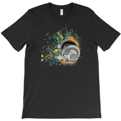 Music Animated Headphones Tshirt T-shirt Designed By Specstore