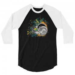 Music Animated Headphones Tshirt 3/4 Sleeve Shirt | Artistshot