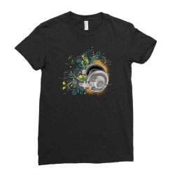 Music Animated Headphones Tshirt Ladies Fitted T-Shirt | Artistshot