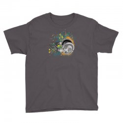 Music Animated Headphones Tshirt Youth Tee | Artistshot