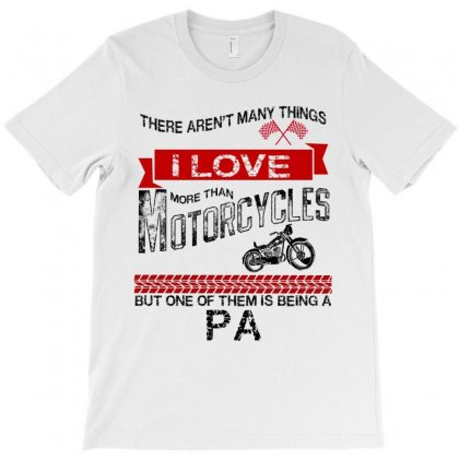 This Pa Loves Motorcycles T-shirt Designed By Rardesign