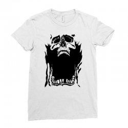 Screaming skull Ladies Fitted T-Shirt   Artistshot
