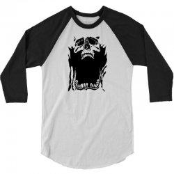 Screaming skull 3/4 Sleeve Shirt   Artistshot