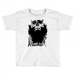 Screaming skull Toddler T-shirt   Artistshot