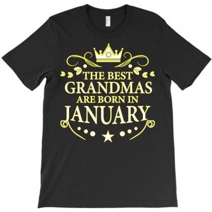 The Best Grandmas Are Born In January T-shirt Designed By Designbysebastian