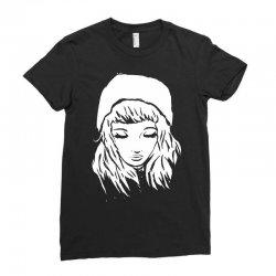 beanie hat eyes closed Ladies Fitted T-Shirt | Artistshot