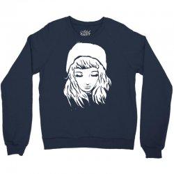 beanie hat eyes closed Crewneck Sweatshirt | Artistshot