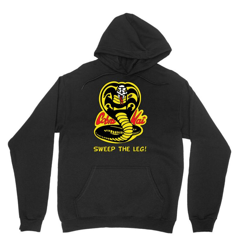 935468697 Custom Sweep The Leg Cobra Unisex Hoodie By Mdk Art - Artistshot