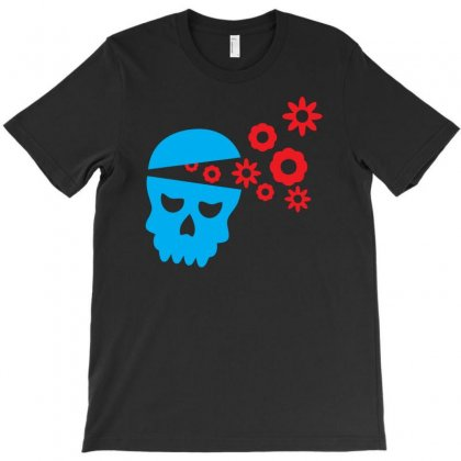 Funny Skull With Flowers T-shirt Designed By Chilistore