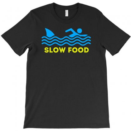 Slow Food Shark T-shirt Designed By Chilistore