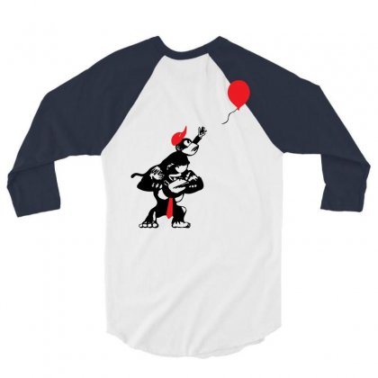 Balloon Apes 3/4 Sleeve Shirt Designed By Chilistore