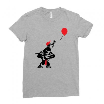 Balloon Apes Ladies Fitted T-shirt Designed By Chilistore