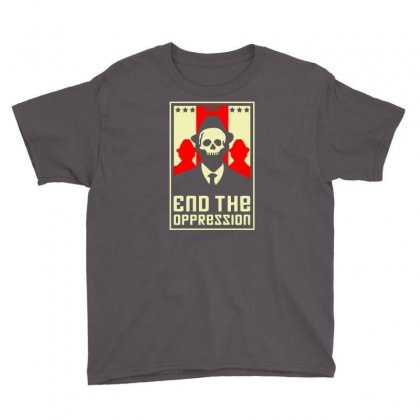 End The Oppression Youth Tee Designed By Chilistore