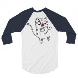 zombie cat 3/4 Sleeve Shirt | Artistshot