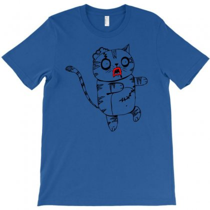 Zombie Cat T-shirt Designed By Chilistore