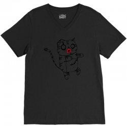 zombie cat V-Neck Tee | Artistshot